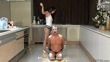 Japanese Femdom Satomi Human Ashtray and Human Cooking