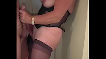 Porn blowjob on massive floppy cock