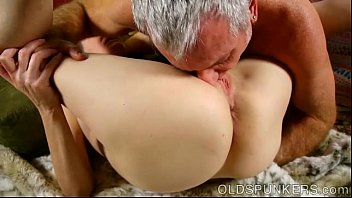Super horny old spunker sucks cock while fucking her soaking wet pussy