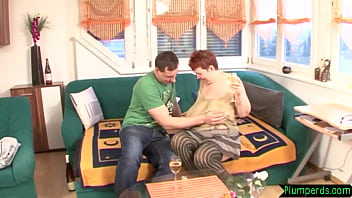Mature plumper bent over and pussyfucked