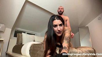 Cum while still sucking Fucked with daddys cum still dripping off her face