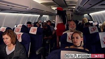 DigitalPlayground - Fly Girls Final Payload Scene 2 (Aletta Ocean, Nicolette Shea, Axel Aces, Ryan Ryder) 8 min
