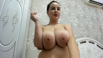 Miley has fun on cam with her enormous boobs thumbnail