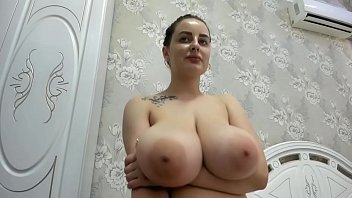 Miley has fun on cam with her enormous boobs - 69VClub.Com