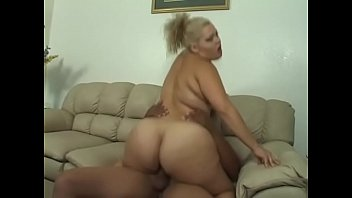 Horny blonde LatinBBW moans as her wet pussy is banged hard by a black hunk