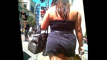 Asian chubby chicks Sexy thick chick in cut-offs