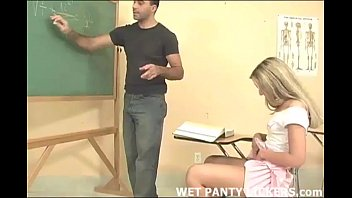 Sexy lingerie panties Hot teacher makes this schoolgirls panties wet