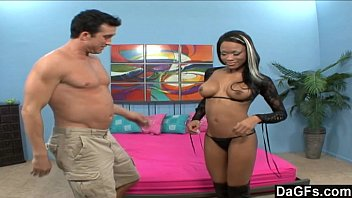 Big dicks seen His big dick barely fits her tight black