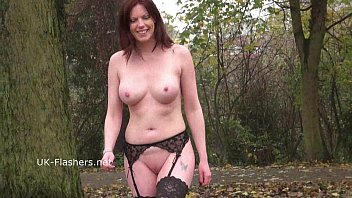 Posing nude in the uk - Redhead holly kiss flashing in public and outdoor dildo masturbation of exhibiti