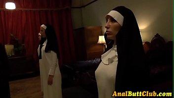 Lesbian nun toy booty