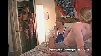 2 bisex boys suck each other in fron of freaky stepmom after being caught