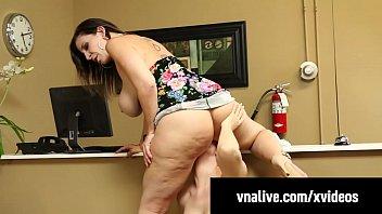 Sara Jay Face Fucks Seamstress Lauren Phillips! VNALive.com!