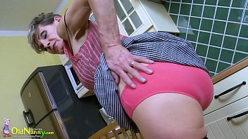 Nude grandmas maturbating solo Oldnanny grandma playing alone in the kitchen