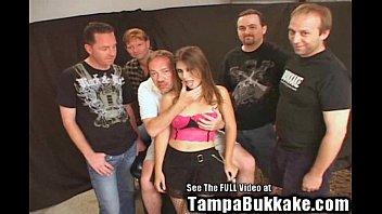 Young Hottie Wife Gang Bang Bukkake! boobs licking videos