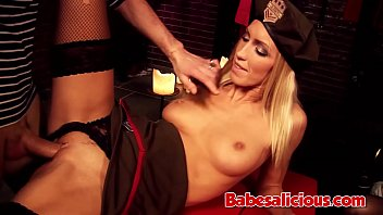 Slutty Blonde Fucked In a Concentration Camp