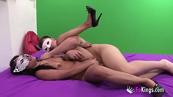 Two masked teens wanted to make their sex fantasy come true...