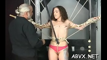 Free severe sex bondage video clips Teen delights with severe enjoyment on her shaved snatch
