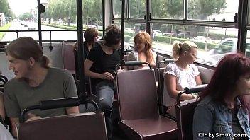 Chestnut babe fucking in public bus thumbnail