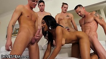Gangbang 4 Jenna foxx gangbang with 4 big cocks that blow all over her