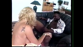 Big black cock fuck horny blonde milf and cum in mouth