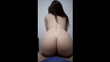 Naughty girlfriend sitting on my dick
