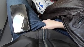 PUBLIC AIRPLANE Handjob and Blowjob - Lexi Aaane