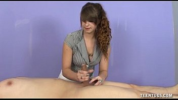 Teen Masseuse Jerks Off Her Client thumbnail