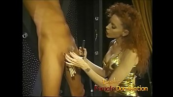 Drag queen spanked by his dominatrix in a hot femdom session