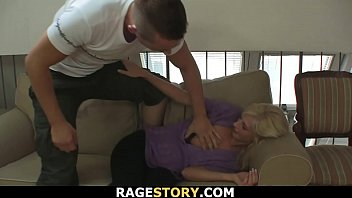 He punishes young blonde wife rough for cheating