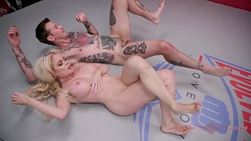 Naked against Petite nikki delano believes she can hold her own against will havoc in a mixed gender wrestling match