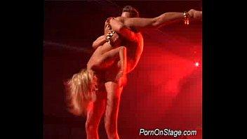 Beauty stripper gets huge cock