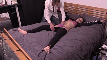 Petite Girl Bound To The Bed, Has Clothes Cut Off and Gets Fucked Hard By Older Guy With Big Cock 33 min