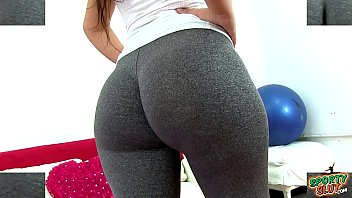 Huge Round Heavy Ass Tiny Waist Latina Working Out In Tight Leggings