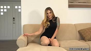 Solo blonde lady, Teagan Presley likes fingering, in 4K