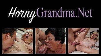 Busty granny ri des cock