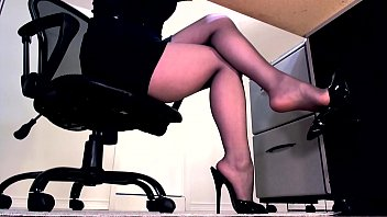 Leg tease nylons sex Compilation of secretary legs and masturbation