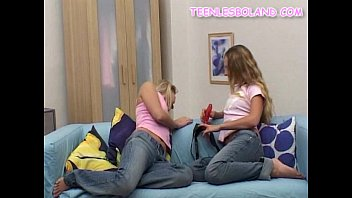 Blonde Teens Making Out