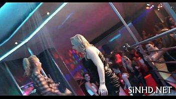 Stripper fucks drunk girls Charming group fucking