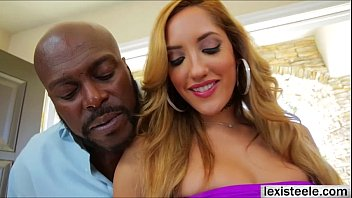 Captivating blonde Chloe adores hardcore interracial sex with Lex