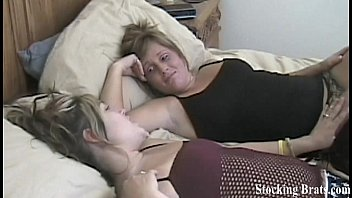Jessie and Carmen teasing in stockings