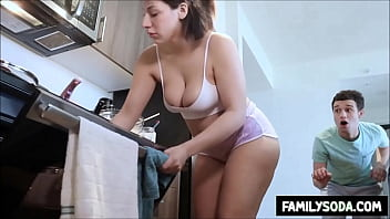 Big butt sister pranked into sucking cock