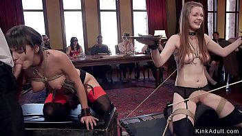 Bdsm orgy slaves fucking and tormenting