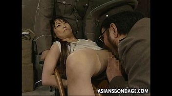 Japanese chick held down and stuffed with fat dicks thumbnail