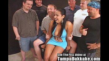 Hottie Latina Sperm Flying Orgy!