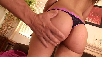 Warm shaved pussy Latina babe Tuesday Cross was drilled on couch