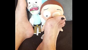 Giantess Tramples and Crushes 2 Tiny Men (Rick and Morty Plush)