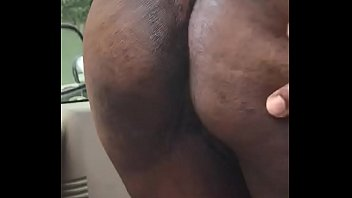 Crackhead older lady with pretty asshole  spread big ass booty and show black asshole