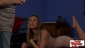 Gorgeous voyeur british babe writhing sexily