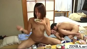 JAV real deal creampie group sex party at dinner Subtitled thumbnail