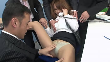 Japanese secretary get fucked from all meeting members, full uncensored JAV movie